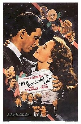 IT'S A WONDERFUL LIFE ~ RR90 27x40 MOVIE POSTER Jimmy Stewart Donna Reed