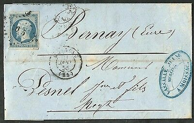 France 1855- Letter With Stamp Napoleon 3