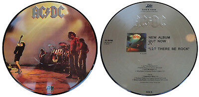 """AC/DC 'Let There Be Rock' limited 10"""" picture-disc vinyl EP"""