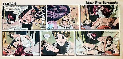 Tarzan by Burroughs & Russ Manning - color Sunday comic page - Feb. 2, 1969