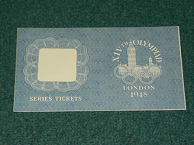 1948 Olympic Games (London) - ORIGINAL TICKET WALLET