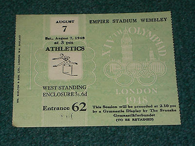 Ticket 1948 Olympic Games (London) - ATHLETICS on 7 August