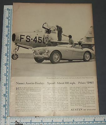 1951 Austin-Healy With Pricing Vintage Original Print Ad