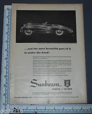 1951 Sunbeam Alpine Convertible art print ad