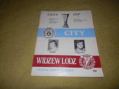 UEFA Cup 1st round 1st leg - Manchester City v Widzew Lodz in 1977 at Maine Road