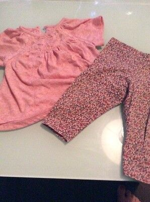 Next Baby Girls Outfit 6-9 Months