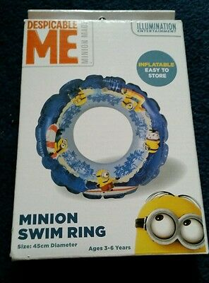 despicable me minion swimming inflatable ring 3-6 years