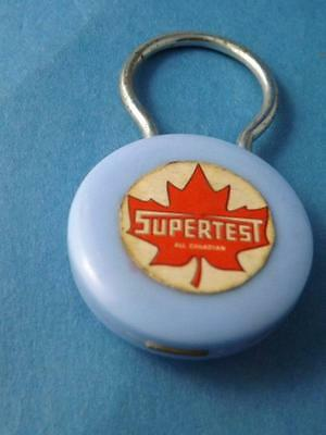 Supertest Oil Gas Service Station Vintage Keychain Key Ring Advertising