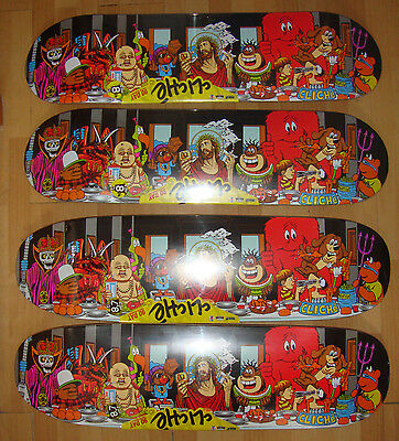 CLICHE - Last Supper - Skateboard Deck / art by Marc McKee  - Pick from 2 shapes