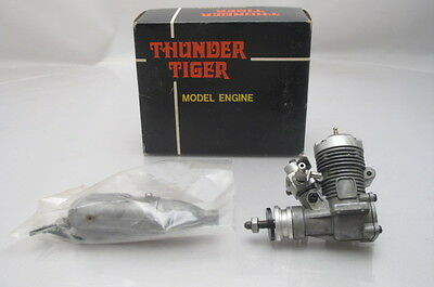 Vintage Thunder Tiger 10 Rc Model Aero Engine + Silencer Boxed