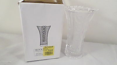"NIB Block Spring Song 9.5"" Frosted Glass Vase"