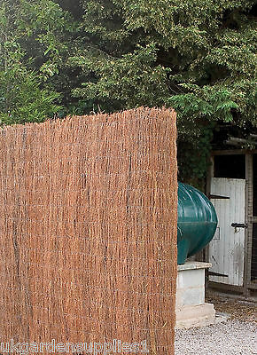 8m x 1.5m Brushwood Screen / Screening / Fencing / Fence / Privacy Shade