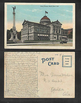 1920s COURT HOUSE SOUTH BEND IND POSTCARD