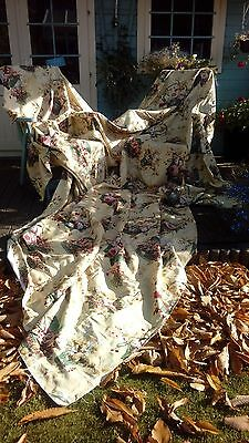 Colefax & Fowler Huge Chelwood Curtains Fabric 1992 15Ft X 11Ft.8'' X 2 Chateau