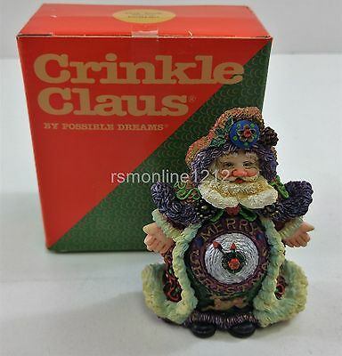 """Crinkle Claus by Possible Dreams Limited Edition #659120 """" Tick Tock Santa """""""