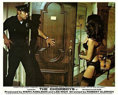 The Choirboys original lobby card Don Stroud Phyllis Davis in sexy outfit