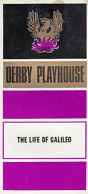 The Life Of Galileo Astronomer Bertolt Brecht 1970s Derby Theatre Programme