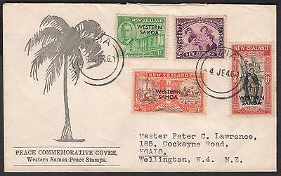 191-194 Peace Issue June 4 1946 Apia to New Zealand, FDC(?)