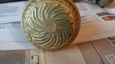 Vintage door knobs  Brass  Art Deco Design #2