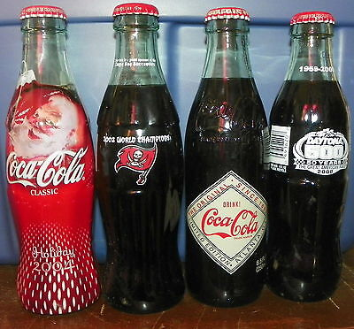4 Coca-Cola Soda Coke Bottles Lot 11