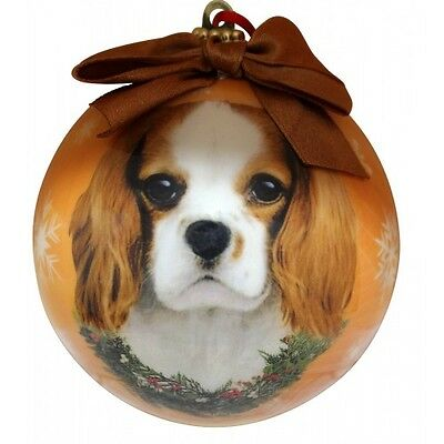 Cavalier King Charles ~ Brown & White  ~ Christmas Ball Ornament