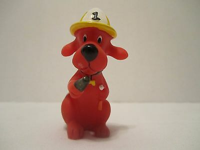 """Scholastic Playfully Yours Firedog Clifford The Big Red Dog 3"""" Figure"""