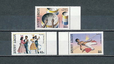 St.Lucia #863 - 865 MNH, Music and Dancing, 1986