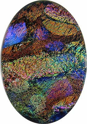 """Farrah 19mm x 28mm"" beautiful handmade Fused Dichroic Glass Cabochon RELEI"