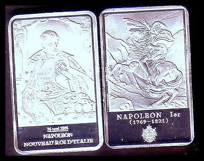 ● Silver Plated Bar ● France ● Napoleon : King Of Italy ●●