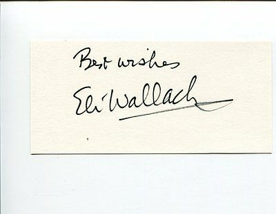 Eli Wallach Batman Villain The Good the Bad and the Ugly Signed Autograph