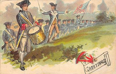 Colonial Soldiers Drum Gun Cottage Grove Tennessee Doane Patriotic Postcard 1910