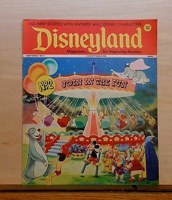 Disneyland Magazine #2 - Mickey & Disney Carousel - 1972 Fawcett - large issue