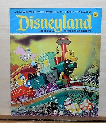Disneyland Magazine #16 - Mickey, Donald, Dumbo cover - 1972 Fawcett, large size