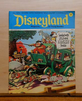 Disneyland Magazine #28 - Pinocchio Coach cover - 1972 Fawcett - large issue