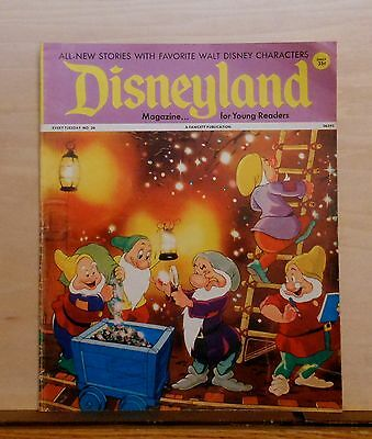 Disneyland Magazine #26 - Seven Dwarfs Mine cover - 1972 Fawcett - large issue