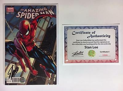 Amazing Spider-Man #1 Variant Signed Stan Lee + Campbell W/coa