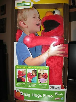 "2014 Sesame Street Big Hugs Elmo Singing Interactive Stuff Plush New 22"" Tall"