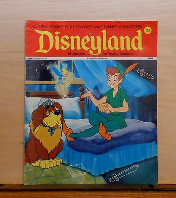 Disneyland Magazine #37 - Peter Pan & Tinker Bell - 1972 Fawcett - large issue