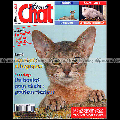 Atout Chat N°247 ★ L'abyssin ★ Persan Chinchilla, Silver Shaded & Golden ★ 2005 • EUR 9,96