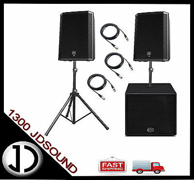 """2x EV ZLX12P two-way 12"""" active speakers + Wharfedale Titan A15 15"""" subwoofer"""