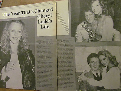 Cheryl Ladd, Charlie's Angels, Two Page Vintage Clipping