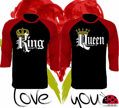 Couple T-Shirt King and Queen - Love Matching Shirts - Couple Tee Tops US Stock