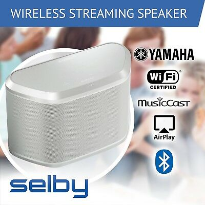 Yamaha WX-030W MusicCast 30W Active Wireless Speaker White WiFi Bluetooth