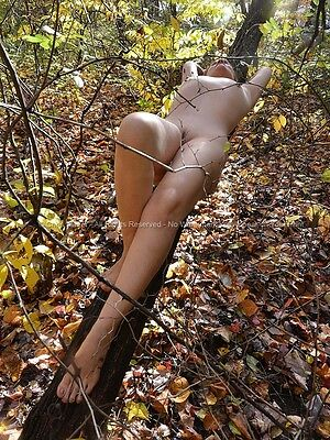 1355-LCW Fine Art Nude Photograph Woman Naked in Nature Signed Chris Maher