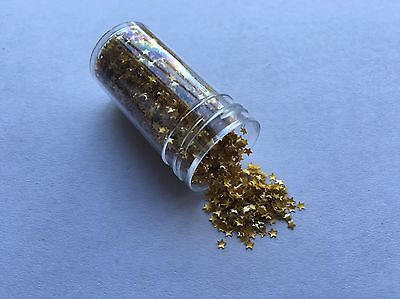 Edible Gold Star Sprinkles Glitter -Cachous Cake Decorating Cupcake Toppers