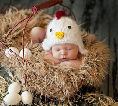 US Seller Cute Newborn Baby Infant Girl Soft Photography Prop Cap Beanie Hat