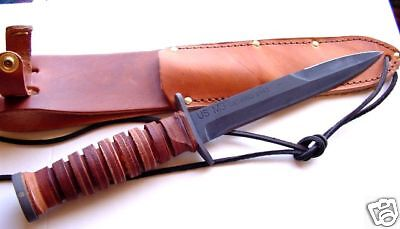 Ontario WW2 Type Brown Handled M-3 Fighting Knife NEW