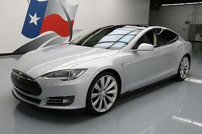 2013 Tesla Model S  2013 TESLA MODEL S TECH HTD LEATHER NAV REAR CAM 18K MI #P11176 Texas Direct