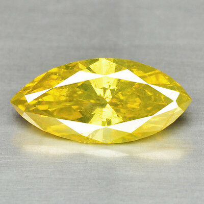 FIERY 0.30 Ct MARQUISE SPARKLING FANCY PARROT GREEN COLOR NATURAL LOOSE DIAMONDS