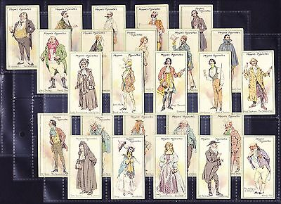 John Player CHARACTERS FROM THACKERAY 1913 Set Of 25 *Fair/Good Condition*
